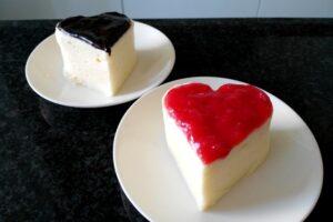 Cuori di bavarese alla vaniglia