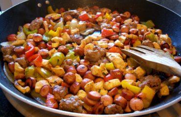 Bocconcini di carne e verdure