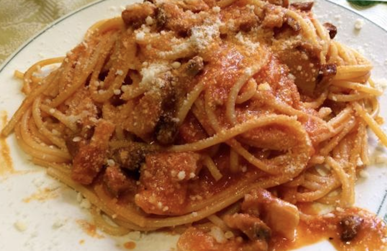 Bucatini all'Amatriciana di Alessandro Borghese
