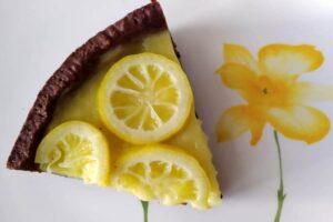 Crostata al cacao e limone