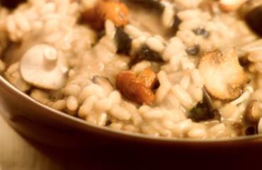 Il risotto ai funghi e formaggio