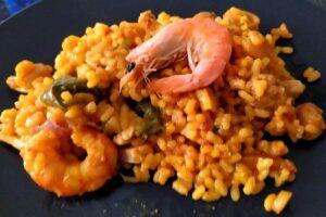 La paella mixta catalana