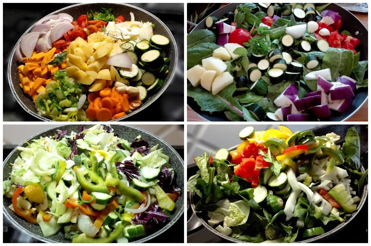 Minestrone di verdure in padella
