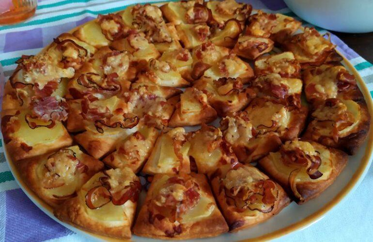 Salatini patate, pancetta ed edam