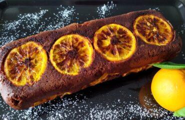 Torta rovesciata arancia e cioccolato fondente