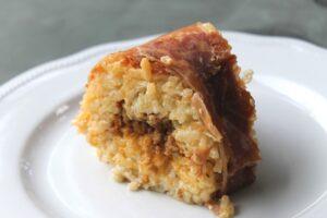 Bomba di riso con parmigiano e prosciutto crudo