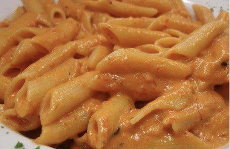 Pasta alla salsa rosa di Gualtiero Marchesi