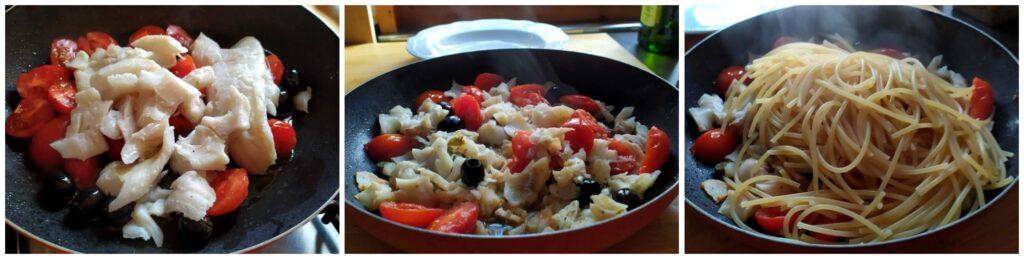 Spaghettoni con Merluzzo e Pomodorini