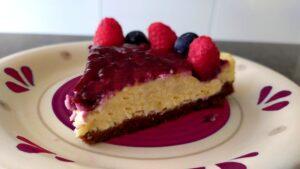 Cheesecake cotta ai frutti di bosco