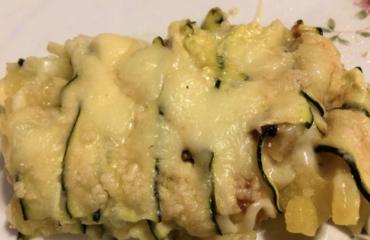 La parmigiana di zucchine e patate
