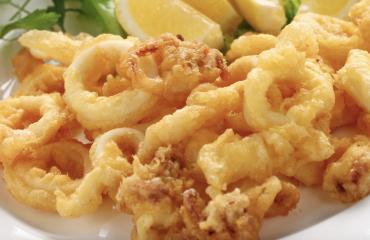 Frittura di calamari al forno