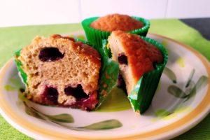 Muffin alle ciliegie e yogurt