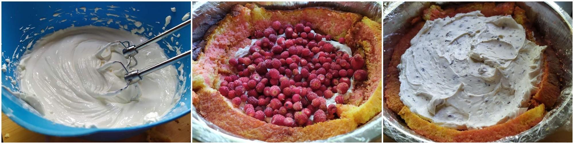 Zuccotto stracciatella e frutti di bosco