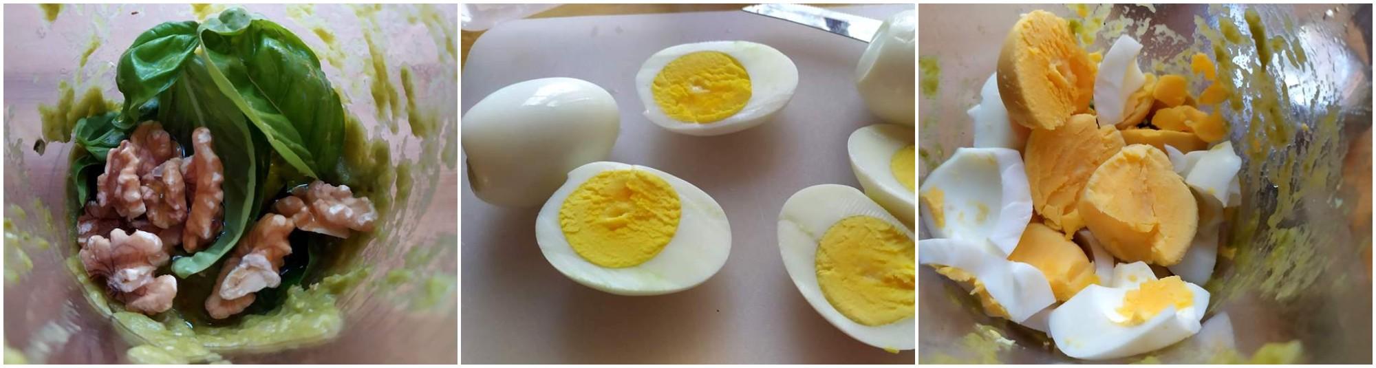 Uova ripiene con crema di friggitelli