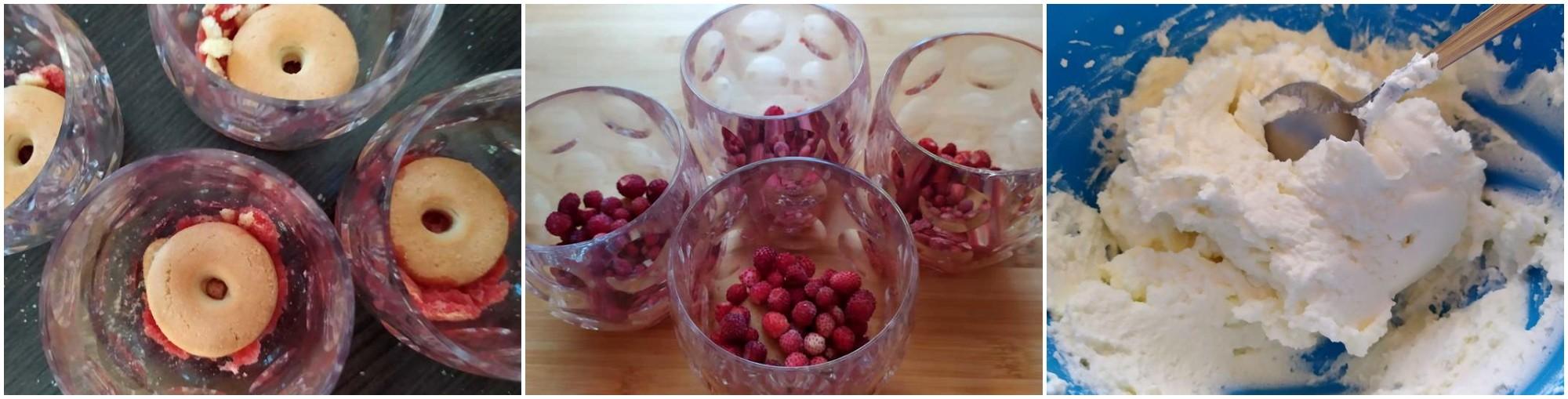 Bicchieri dolci ai frutti rossi