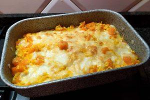 Riso al forno alla zucca e formaggi