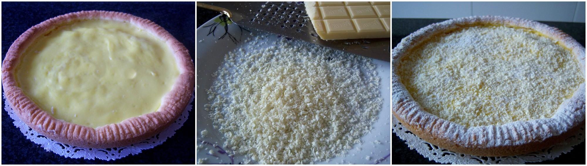 Crostata morbida limone e cioccolato bianco