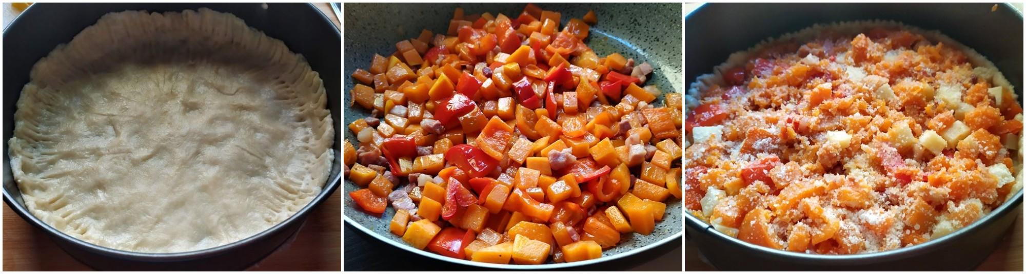 Crostata salata di zucca e peperoni